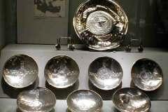 Silver bowls.