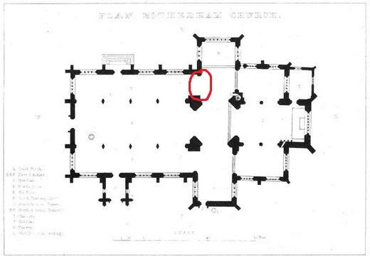 Plan of Rotherham Minster