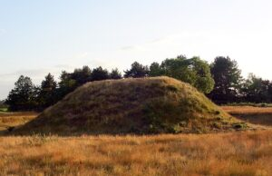 Sutton Hoo burial mound - by Geoff Dallimore